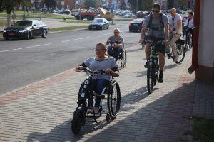 В Лиде открылась первая инклюзивная велодорожка. Её оборудовали при поддержке МИД Польши