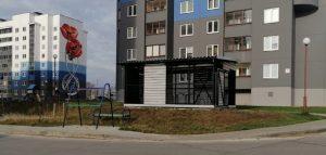 При поддержке Евросоюза в Гродно построили велогараж, установили два веломаячка и одну велопарковку