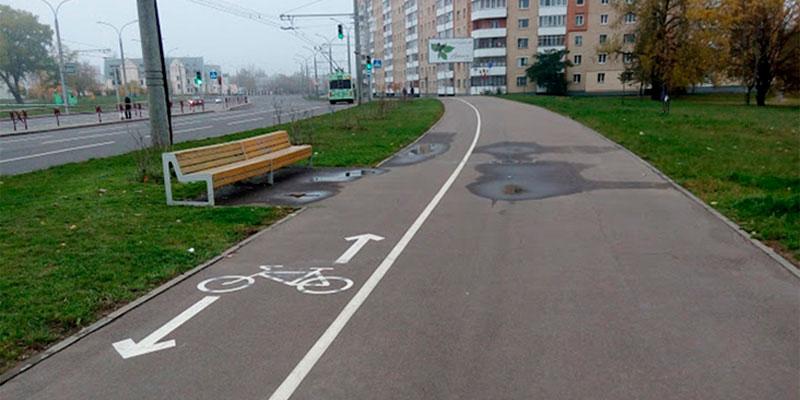 Пересечение траектории движения пешеходов и велосипедистов