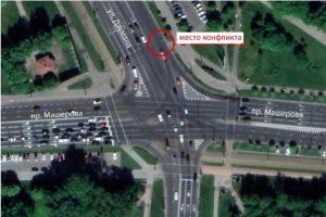 Передвигаться на перекрестке Машерова с Даумана на велосипеде стало безопаснее