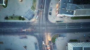 Велосипедная дорожка в Минске на ул. В. Хоружей